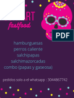 Púrpura Rosa Calavera Confeti Mexicano Menú.pdf
