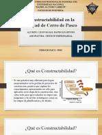 Constructibilidad en la Ciudad de Cerro de Pasco