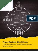 Toward Equitable School Choice by Paul E. Peterson