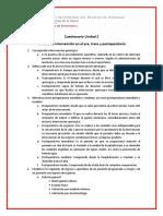 Cuestionario Pre, trans y postoperatorio