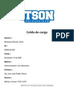 Celda de carga análisis de circuitos, tabla y gráfico