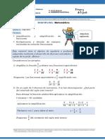 SEMANA 3 REPASO MULTIPLICACION Y DIVISION FRACCIONES 21- 10- 2020