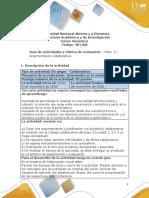 Guía de actividades y rúbrica de evaluación Unidad 3 -Paso 5 - Argumentación Colaborativa