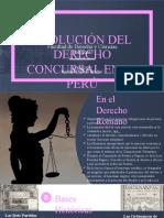 EVOLUCION DEL DERECHO CONCURSAL
