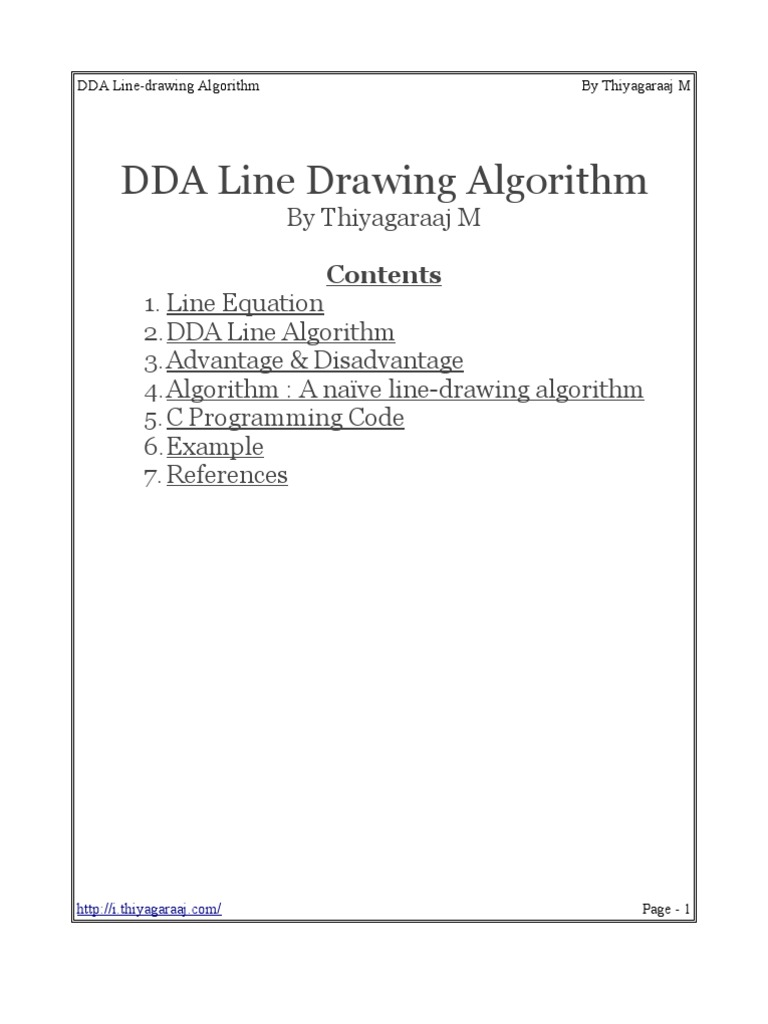 14959_DDA Line | Line (Geometry) | Areas Of Computer Science