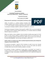 19 Comunicat Instituția Prefectului Constanța Nr.311 19.11.2020