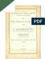A Co-Operative College-1912 Paper