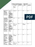 French AP Calendar 2010_2011 Semester 2