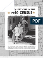 New Questions in the 1940 Census - Prologue, Winter 2010