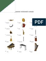 Instrumente orchestrale comune