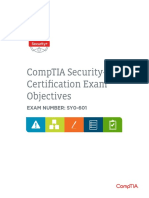 Comptia Security Sy0 601 Exam Objectives (2 0)