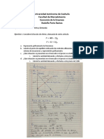 Ejercicios II Modelo de Oferta y Demanda
