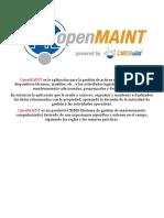 Open Maint