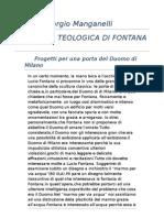 Giorgio Manganelli:L'Ironia Teologica di Fontana