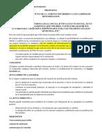 PROPUESTA DE MODIFICACION DEL ESTATUTO DE LA AGRUPACION