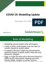 Document de l'Autorité de la santé de la Saskatchewan (SHA) des scénarios sur l'évolution possible de la COVID-19