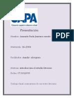 TRABAJO FINAL DE INTODUCCION AL ESTUDIO LITERARIO