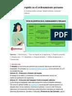 Tipos de despido en el ordenamiento peruano