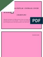 XI CARRERA POPULAR   CONTRA EL CÁNCER DE MAMA