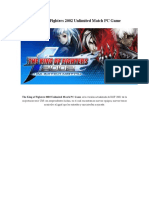 The King of Fighters 2002 Unlimited Match PC Game.docx