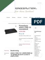 Powerbass ASA3-1500.1D monoblock - Fordonssajten