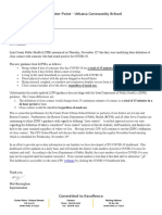 Center Point-Urbana Letter to Parents