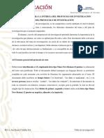 Lineamientos para la entrega del protocolo de investigación