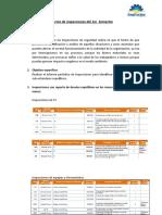 Informe de inspecciones - 1er semestre