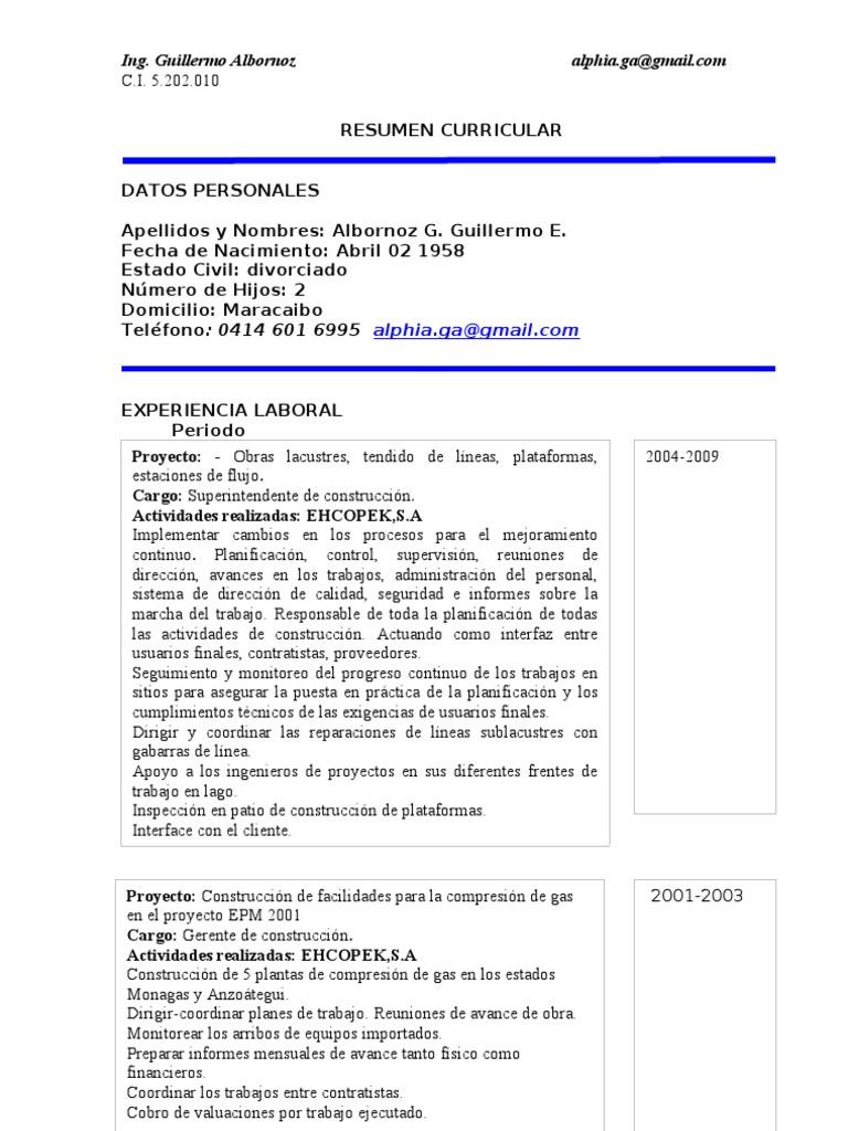 Albornoz G Curriculum JL
