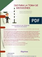 PROCESO PARA LA TOMA DE DECISIONES