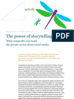 The power of storytelling- What nonprofits can teach the private sector about Social media