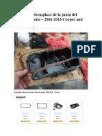 MINI R56 Reemplazo de la junta del cárter de aceite