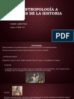 LA ANTROPOLOGÍA A TRAVÉS DE LA HISTORIA
