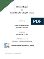 Report on PC Control Using Tv Remot