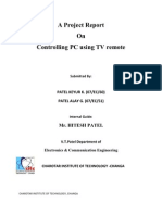 Report on PC Control Using Tv Remot