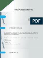 Procesos Psicrométricos (Calentamiento y Enfriamiento simple)