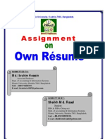 MY Own Resume