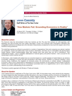 "MTI-CSC Lecture by John Cassidy on ""How Markets Fail"