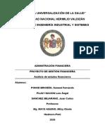Proyecto de gestión financiera P265