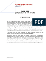PROJECT REPORT ON CAKE GEL