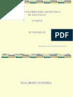 ECONOMIA II - INTRODUÇÃO A MACROECONOMIA