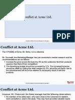 Conflict at Acme Ltd
