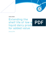 Extending the shelf life of low-acid liquid dary products