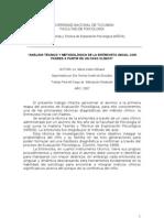 analisis tecnico y metodologico de la entrevista inicial con padres a partir de un caso clinico