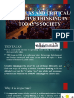 TED TALKS and Critical week 7