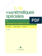 Cours de mathematiques speciales~ Tome 5 Applications de l'analyse á la geometrie - E. (Edmond) Ramis, C. (Claude) Deschamps, J. Odoux - 2225827710