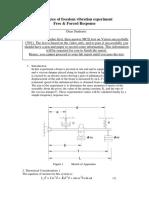 One degree of freedom vibration beam manual