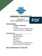 Career Opportunity Of Finance
