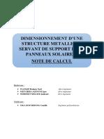 note de calcul structure panneau solaire
