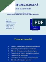 Acalovschi-Transfuzia alogena